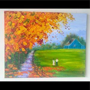 Fall Farmhouse painting